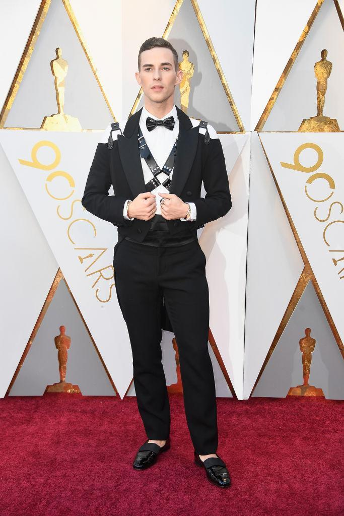 <p>Adam Rippon attends the 90th Academy Awards in Hollywood, Calif., March 4, 2018 (Photo: Getty Imnages) </p>