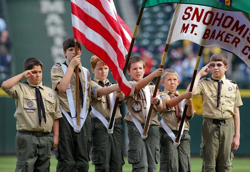 "This news comes just two months after Girl Scouts of the USA accused the Boy Scouts of America of conducting a ""covert campaign to recruit girls into programs run by the Boy Scouts."" (Otto Greule Jr via Getty Images)"