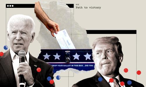 Build your own US election: plot a path to victory for Biden or Trump