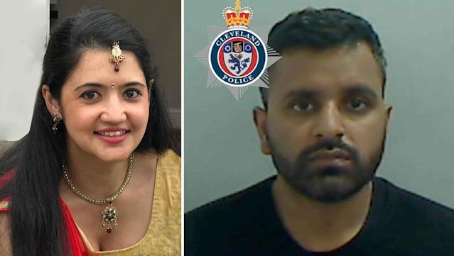 Mitesh Patel, right, has been found guilty of his wife Jessica's murder in a plot where he hope to flee to Australia to start a new life with his boyfriend and a £2m life insurance payout. (PA)