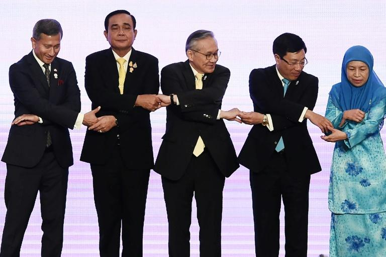 Foreign ministers from 10 Southeast Asian countries are meeting in the Thai capital (AFP Photo/Lillian SUWANRUMPHA                )