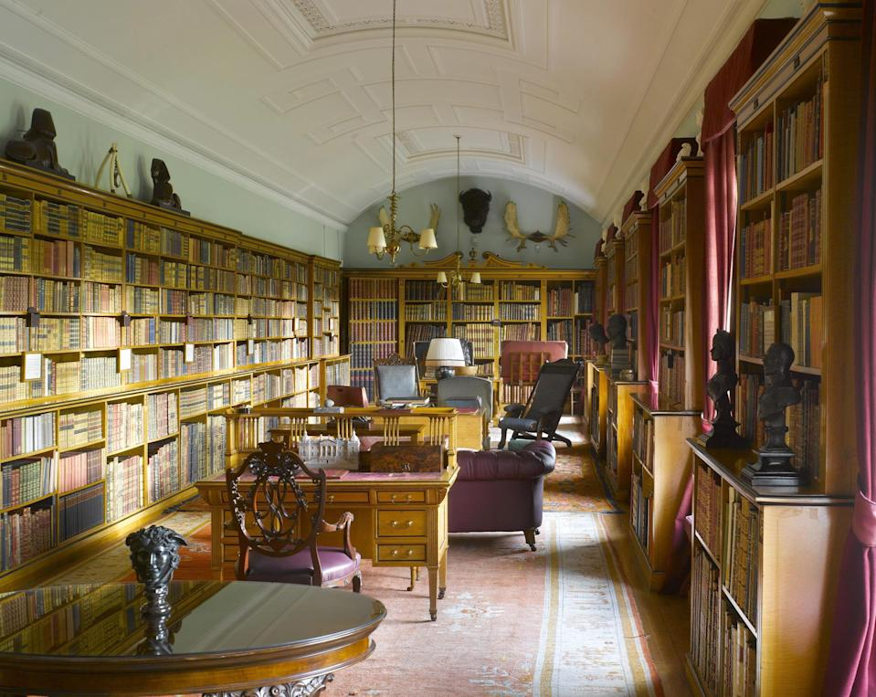 The library at royal residence Sandringham. (Country Life)