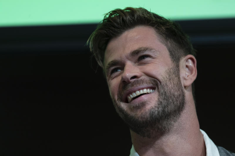 Chris Hemsworth attends a preview of Tourism Australia's latest campaign