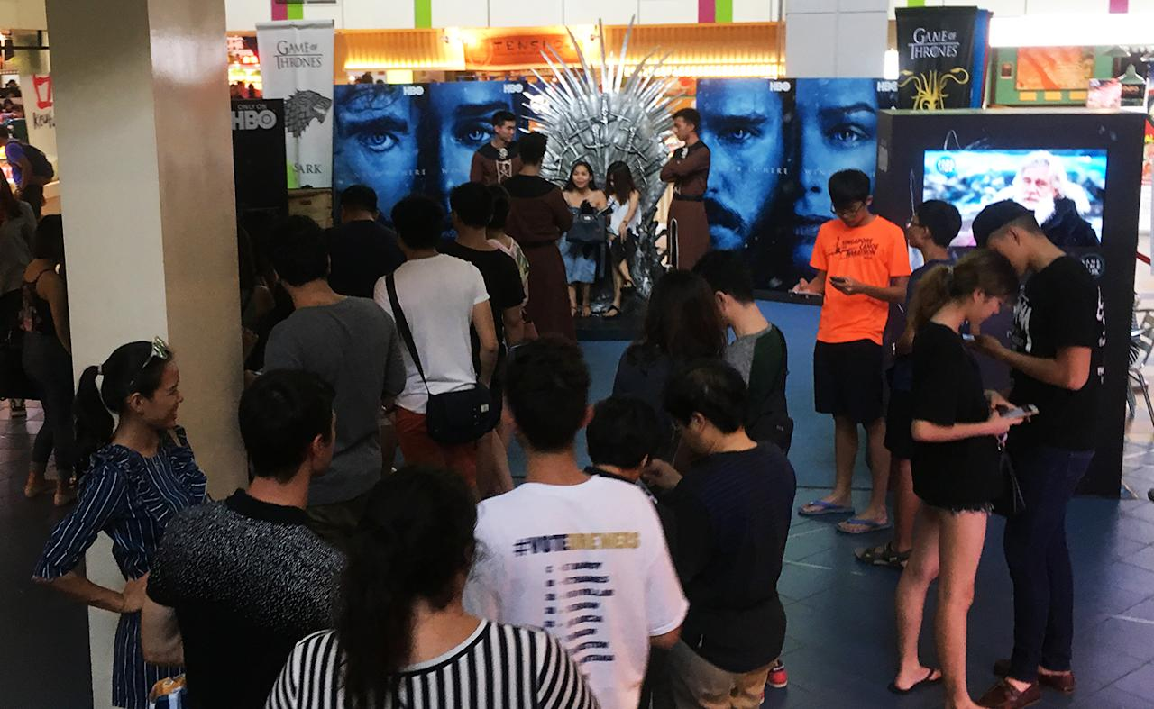 <p>The Game of Thrones event at Orchard Cineleisure last weekend. (Photo: Gabriel Choo/ Yahoo Lifestyle Singapore) </p>