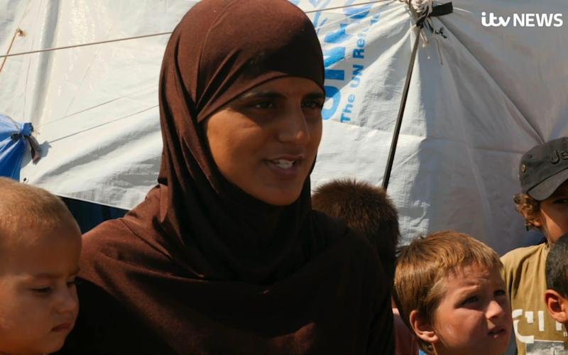 Tooba Gondal in the Ain Issa camp last month - Universal News And Sport (Europe)