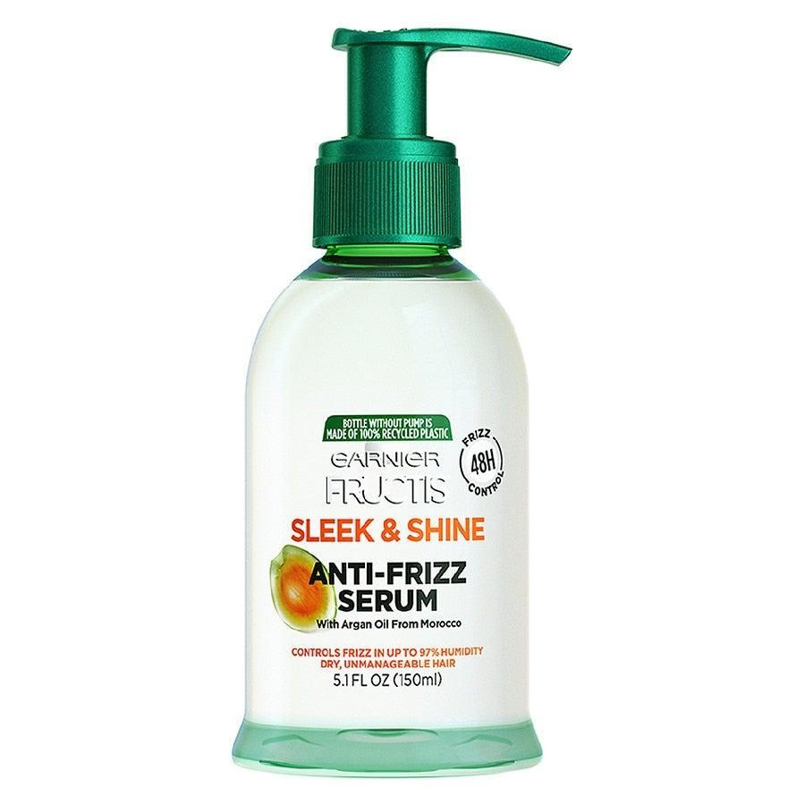"""<h3>Garnier Fructis Sleek & Shine Anti-Frizz Serum</h3><br>To create Carson's sleek updo, her stylist, Caile Noble, used this serum as they pulled back her hair to not only introduce a bit of hold to the style, but <a href=""""https://www.refinery29.com/en-gb/how-to-get-rid-of-frizzy-hair-best-products"""" rel=""""nofollow noopener"""" target=""""_blank"""" data-ylk=""""slk:get rid of any flyaways"""" class=""""link rapid-noclick-resp"""">get rid of any flyaways</a>. <br><br><strong>Garnier</strong> Anti-Frizz Serum, Frizzy, Dry, Unmanageable Hair5.1fl oz, $, available at <a href=""""https://go.skimresources.com/?id=30283X879131&url=https%3A%2F%2Fwww.walgreens.com%2Fstore%2Fc%2Fgarnier-fructis-sleek-%2526-shine-anti-frizz-serum%2C-frizzy%2C-dry%2C-unmanageable-hair%2FID%3Dprod6071669-product"""" rel=""""nofollow noopener"""" target=""""_blank"""" data-ylk=""""slk:Walgreens"""" class=""""link rapid-noclick-resp"""">Walgreens</a>"""