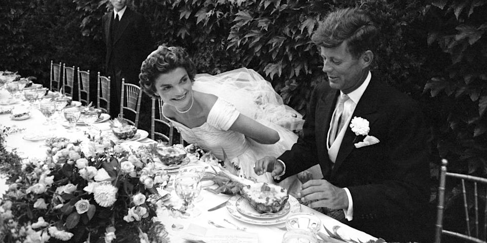 <p>Just like the red carpet was a more glamorous affair back during the Golden Era of Hollywood, so too were the weddings. From Ingrid Bergman's beaded cap to Audrey Hepburn's pale pink mini dress, here's a look back at some of the most beautiful celebrity weddings of all time.</p>