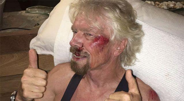 Branson was lucky to escape serious injury. Source: Virgin