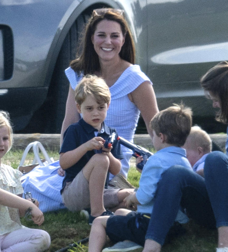 A photo of Prince George, the 4-year-old son of Kate Middleton and Prince William, caused controversy online. (Photo: AP Images)