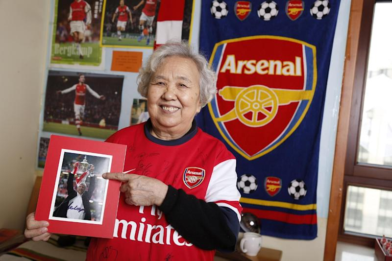 Liu Are Ya | 'Gunner Granny Liu' is a minor celebrity in China due to his fanatical following of Arsenal: Visit Britain