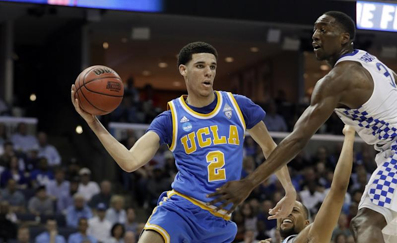 Lonzo Ball is expected to be a very high draft pick. (AP)