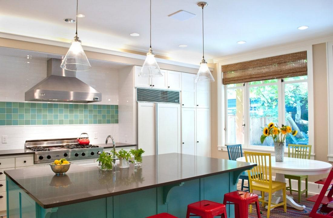 If there's one room that should be bright, open and happy, it's your kitchen. To spruce up the space where you spend time cooking, connecting, and entertaining, add some major splashes or small pops of color. Ahead, get ideas, from inspiration to shopping picks.