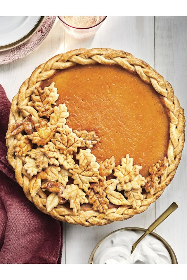 """<p><strong>Recipe: <a href=""""https://www.southernliving.com/recipes/dairy-free-coconut-pumpkin-pie"""">Spiced Coconut-Pumpkin Pie</a></strong></p> <p>No one at the holiday table will realize this silky-smooth pie is different from last year's, and your dairy-intolerant guests will thank you.</p>"""