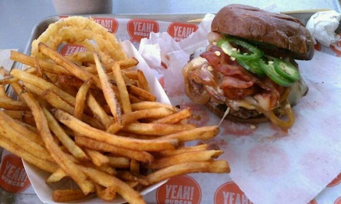 """<p><a href=""""http://www.yeahburger.com/"""" rel=""""nofollow noopener"""" target=""""_blank"""" data-ylk=""""slk:YEAH! Burger"""" class=""""link rapid-noclick-resp"""">YEAH! Burger</a>, Atlanta</p><p>""""This place has some of the best burgers and fries you will be get! All fresh, delicious products! Fries are a large serving so can be shared."""" - Foursquare user <a href=""""https://foursquare.com/laurenkgray"""" rel=""""nofollow noopener"""" target=""""_blank"""" data-ylk=""""slk:Lauren Gray"""" class=""""link rapid-noclick-resp"""">Lauren Gray</a></p>"""