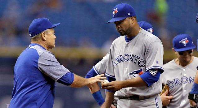 Blue Jays lefty Francisco Liriano would like to put his forgettable 2017 debut behind him. (AP Photo/Chris O'Meara)