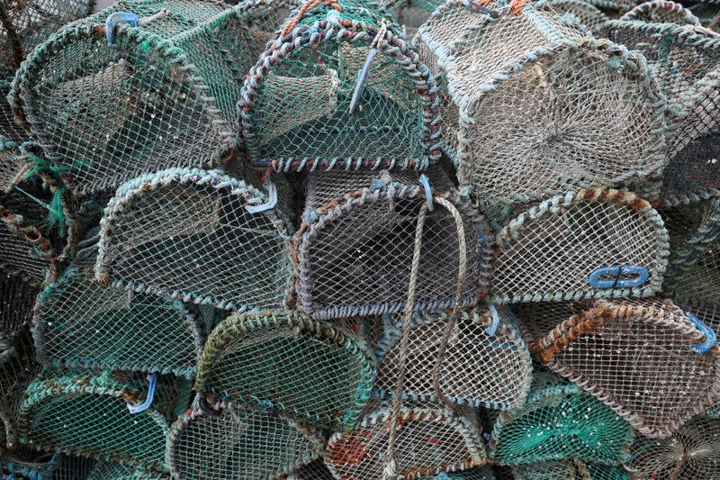 FILE PHOTO: Fishing creels are seen near Oban