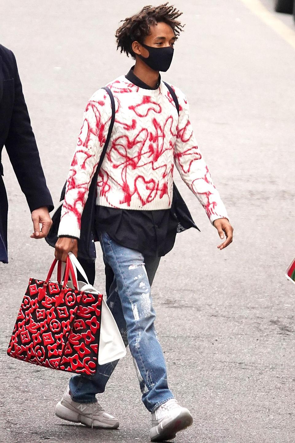 <p>Jaden Smith was spotted in Milan, Italy, in a designer ensemble.</p>
