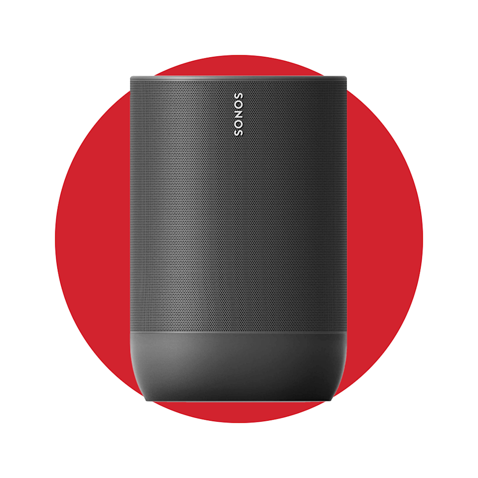 """<p><strong>Sonos</strong></p><p>amazon.com</p><p><strong>$399.00</strong></p><p><a href=""""https://www.amazon.com/dp/B07W95RBZM?tag=syn-yahoo-20&ascsubtag=%5Bartid%7C2139.g.34088511%5Bsrc%7Cyahoo-us"""" rel=""""nofollow noopener"""" target=""""_blank"""" data-ylk=""""slk:Shop Now"""" class=""""link rapid-noclick-resp"""">Shop Now</a></p><p>A good portable speaker can be hard to find, but Sonos is always a sure bet for outstanding sound quality—and the Sonos Move doesn't disappoint. The Move is a favorite for a few reasons: it's easy to use, provides 10 hours of continuous sound, it has Alexa-enabled voice control, and it's both durable and weather resistant. Oh, and did we mention the powerful sound it delivers? You don't be disappointed. </p>"""
