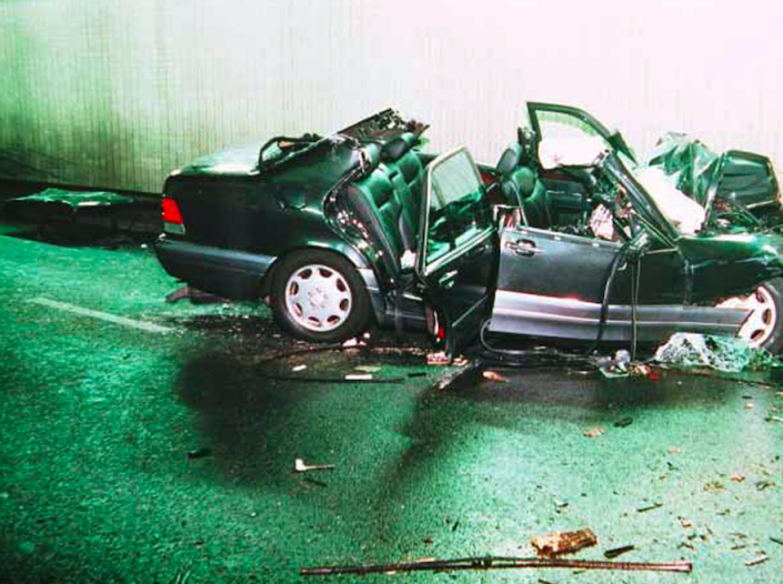 The wreckage was shown to the jury at the inquest (Picture: Rex)