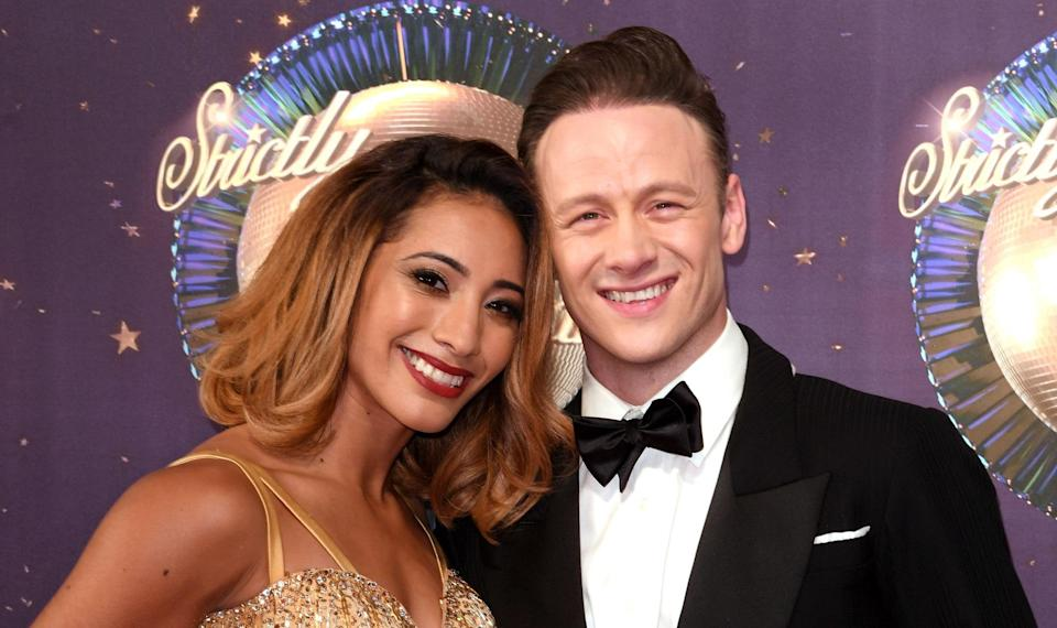 The pair were said to be hit by the 'Strictly curse'. Copyright: [Rex]