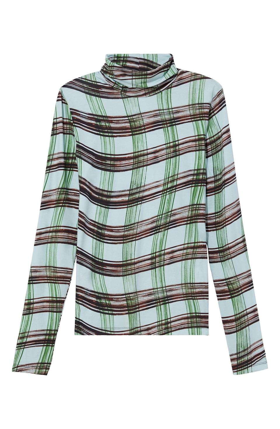 <p>This <span>Proenza Schouler White Label Plaid Stretch Cotton Jersey Top</span> ($275) will be a closet staple.</p>