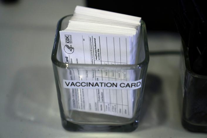 It's also safer to keep a photo of your COVID-19 vaccination card on your phone than in your wallet, where it can get crumbled or ruined.