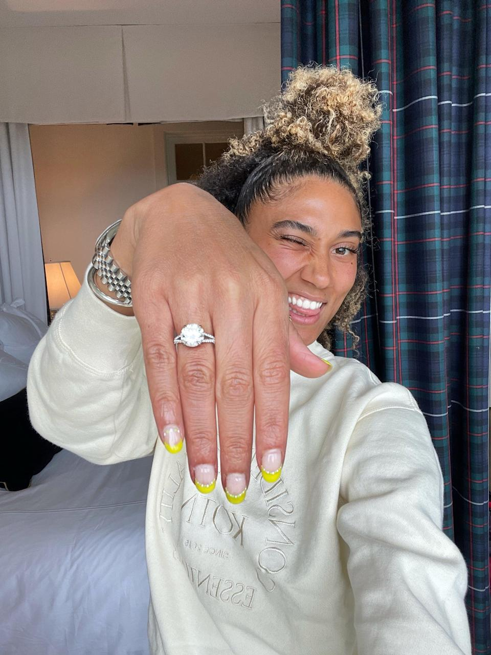 Peloton Instructor Ally Love Wears a New Sparkly Engagement Ring - but Will She Work Out in It?