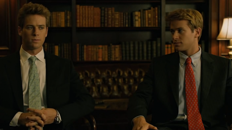 Armie Hammer and Armie Hammer in 'The Social Network' (Columbia Pictures)