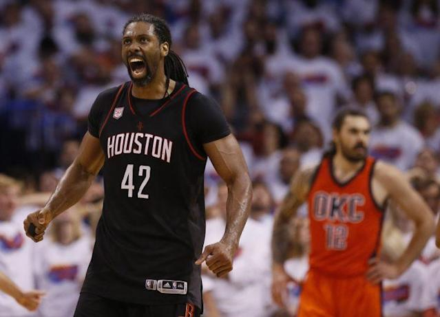 Houston Rockets big man Nene was literally perfect off the bench. (AP)