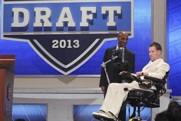 Steve Gleason announces New Orleans draft pick in draft night two's sweetest moment