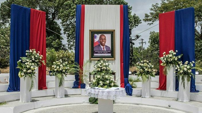 Ceremony in honour of late Haitian President Jovenel Moise at the National Pantheon Museum in Port-au-Prince, Haiti, on July 20, 2021