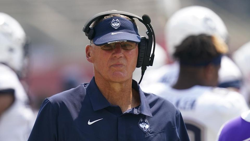 Randy Edsall looks on cropped