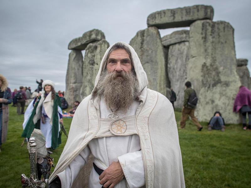 A druid at Stonehenge: the petition calls for pagans to be allowed on to the prime-time Radio 4 slot: Getty Images
