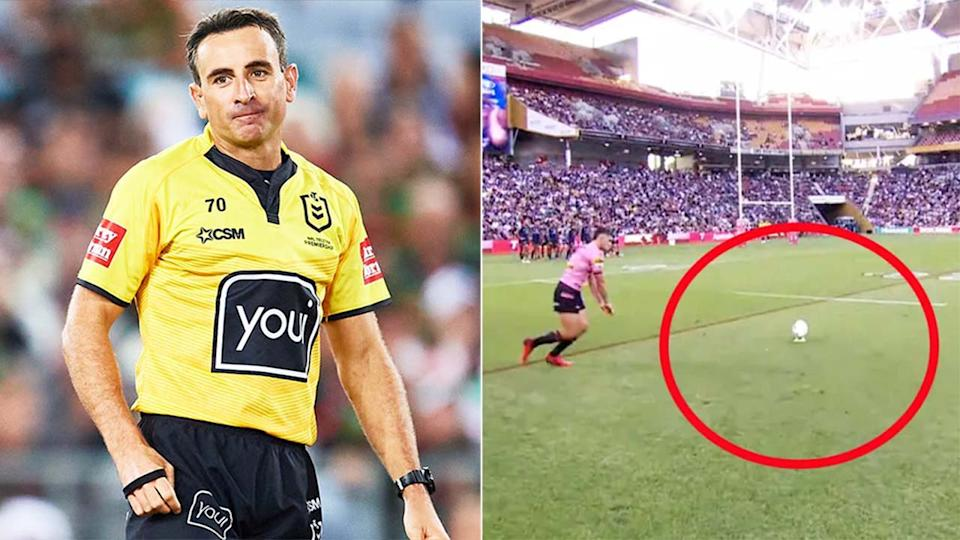 Gerard Sutton (pictured) left during a game and (pictured right) Nathan Cleary going for goal.
