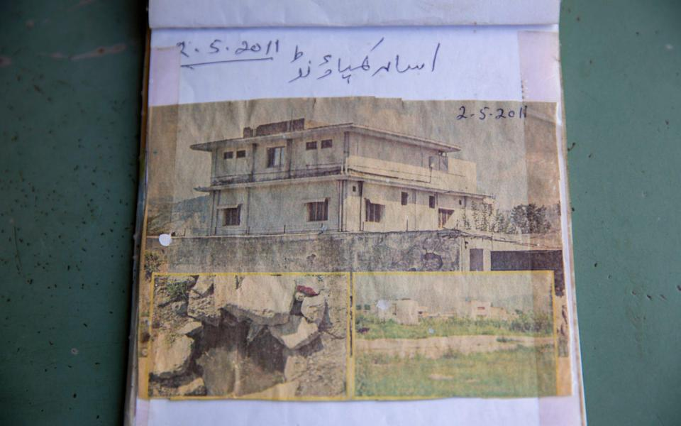 A shopkeeper nearby Osama Bin Laden's compound has kept a newspaper clipping which shows it ten years ago - Saiyna Bashir