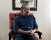 Muhyiddin Yassin, former Malaysian deputy Prime Minister, speaks during an interview with Reuters in Kuala Lumpur