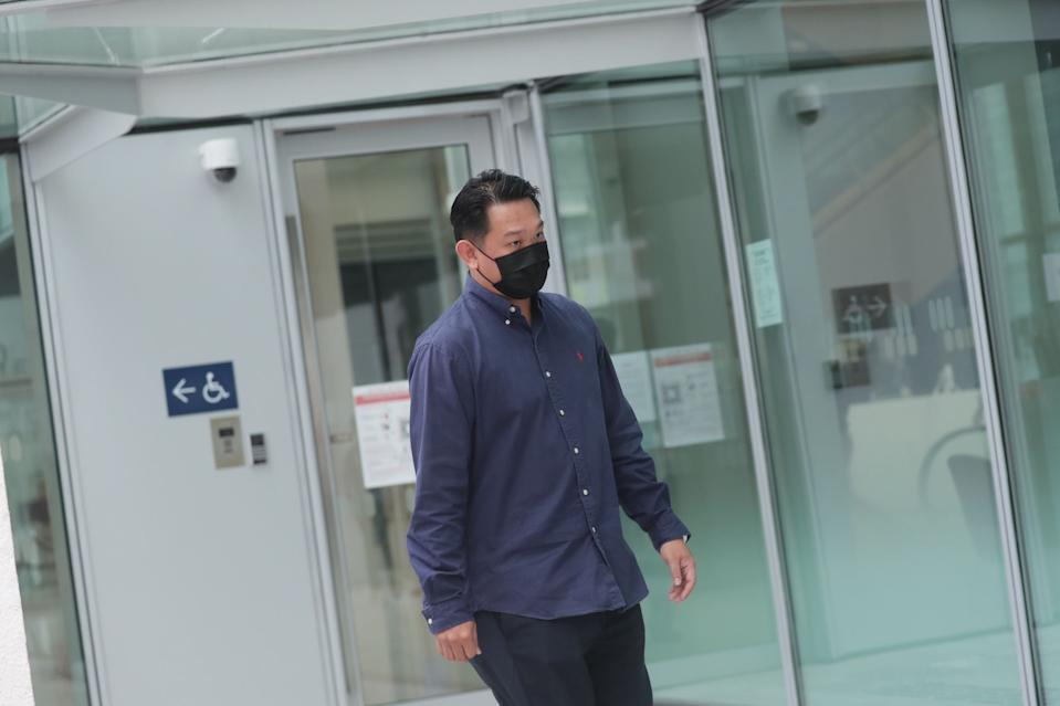 Stars Engrg owner Chua Xing Da, 37, at the State Courts where he testified at the public inquiry into the February Tuas blast that killed three of his employees.