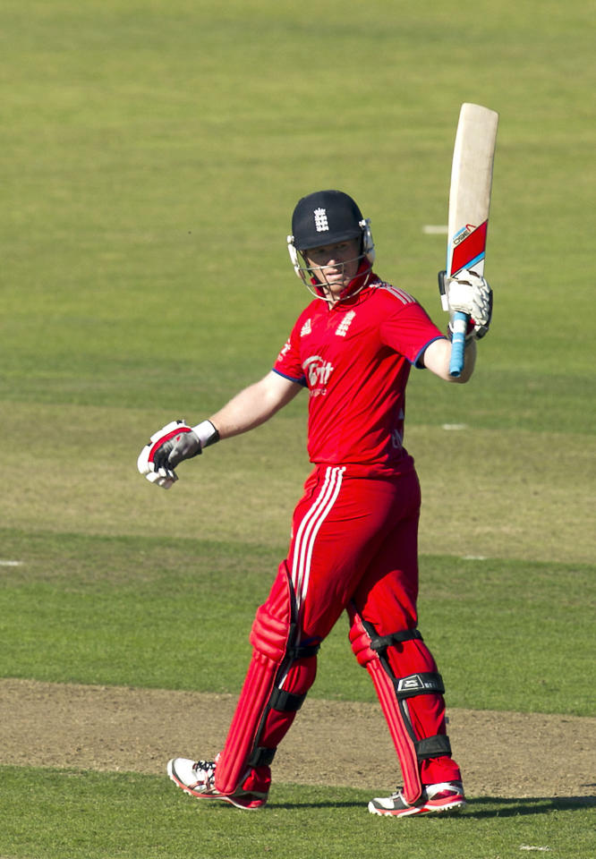 England's Eoin Morgan during the One Day International at The Village, Dublin.