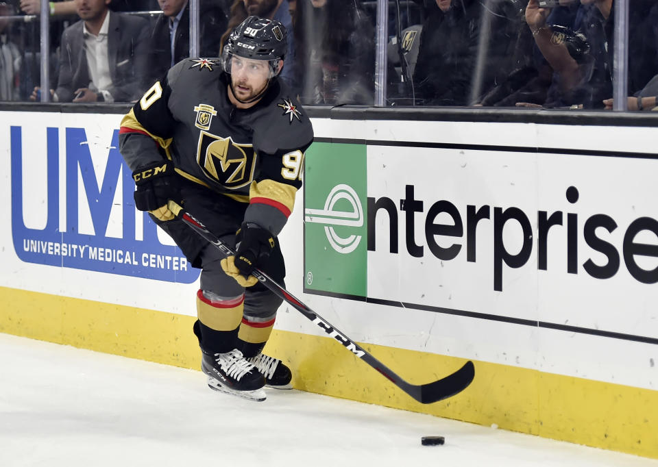 Golden Knights left wing Tomas Tatar should receive a fantasy boost with the relocation to Vegas. (AP Photo/David Becker)