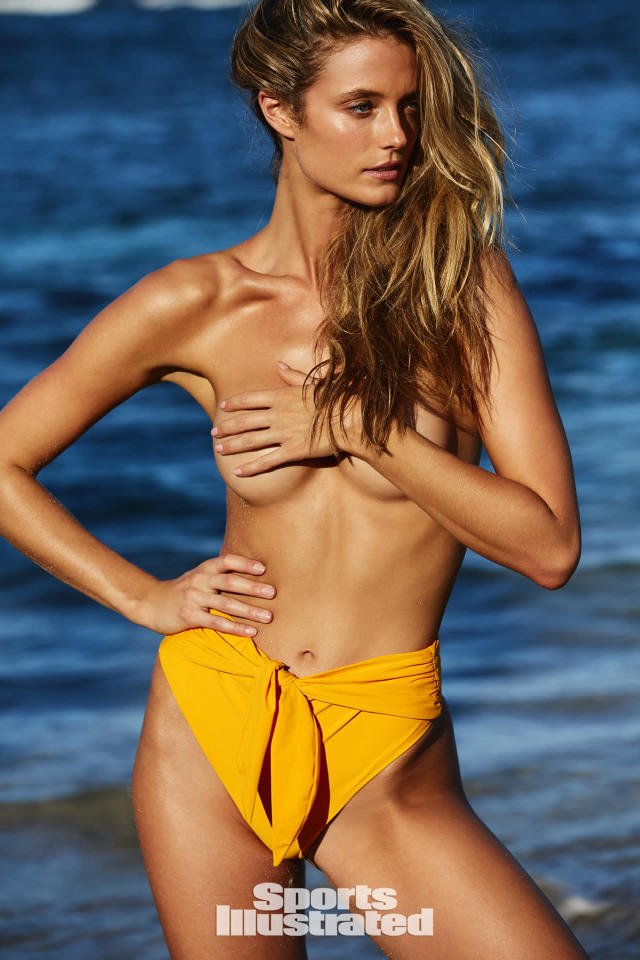"<p>Kate Bock was photographed by Josie Clough in Nevis. Swimsuit by <a href=""http://www.vybswim.com"" rel=""nofollow noopener"" target=""_blank"" data-ylk=""slk:VYB Swim"" class=""link rapid-noclick-resp"">VYB Swim</a>.</p>"