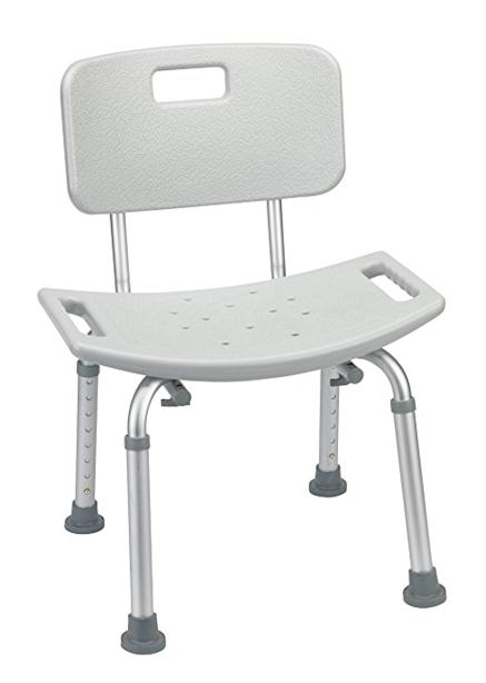 drive medical shower chair bench white