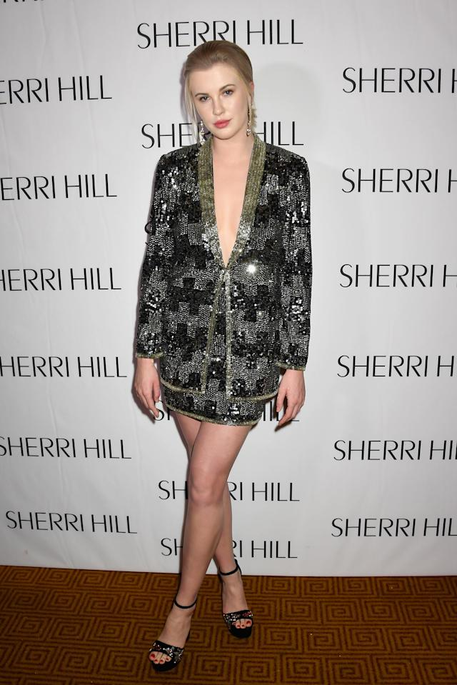 Ireland Baldwin attends the NYFW Sherri Hill runway show in February. (Photo: Jennifer Graylock/Getty Images North America) <span> </span>