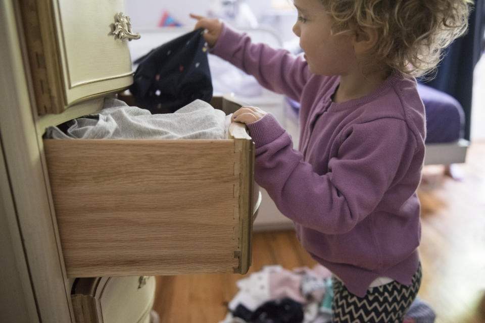 It's easy for children's drawers to get messy. (Getty Images)