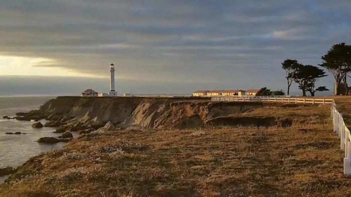 """If a modestly appointed room with million-dollar views is what you had in mind, look no further than this cozy studio on the tip of Point Arena in Northern California. Just outside the front door is a postcard-perfect view of the Pacific Ocean and 12 miles of undeveloped coast. $153, Airbnb. <a href=""""https://www.airbnb.com/rooms/8273104"""" rel=""""nofollow noopener"""" target=""""_blank"""" data-ylk=""""slk:Get it now!"""" class=""""link rapid-noclick-resp"""">Get it now!</a>"""