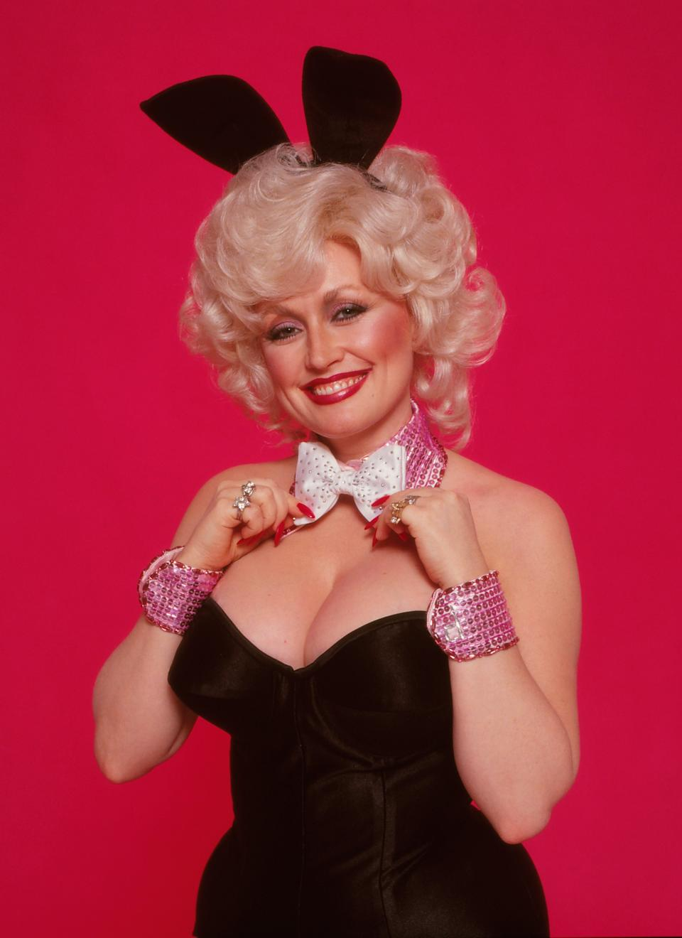 Dolly Parton originally posed for Playboy in 1978. (Photo by Harry Langdon/Getty Images)
