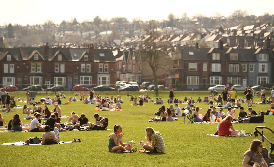 Endcliffe Park in Sheffield attracted thousands of visitors in the past few days. (Getty)