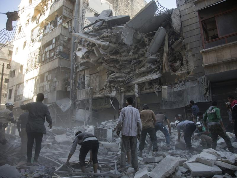 Destruction in Syria, where civil war has seen cities leveled and thousands killed: AFP/Getty