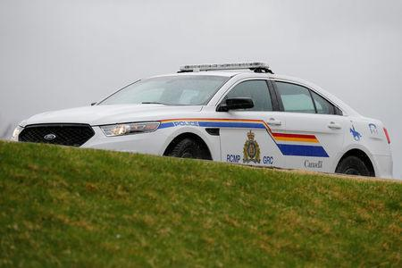 A RCMP vehicle is seen on Parliament Hill in Ottawa