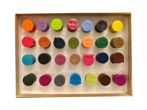 Embrace your creative side with this set of colourful crayons (Etsy)