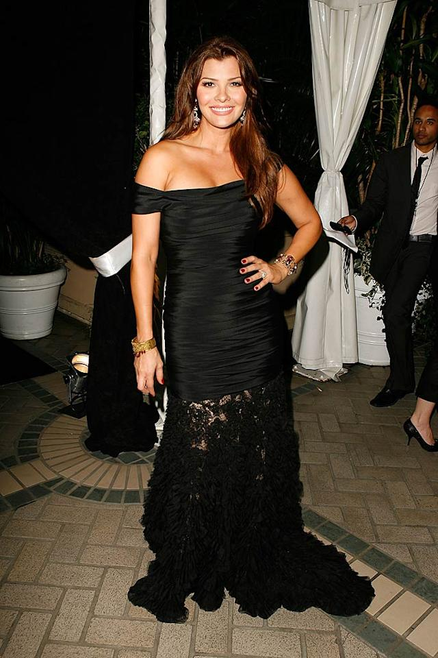 "Ali Landry made a dramatic entrance in a long black gown. Jeff Vespa/<a href=""http://www.wireimage.com"" target=""new"">WireImage.com</a> - October 15, 2007"